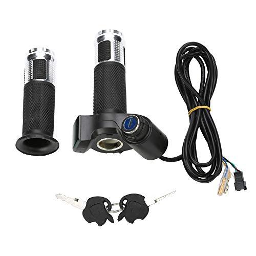 MAGT Acelerador Electrico Manillar, 4 Colores de Bicicleta eléctrica Acelerador Giratorio Grip, Bicicleta eléctrica de la Vespa Media torsión de la muñeca del puño del Acelerador de la manija