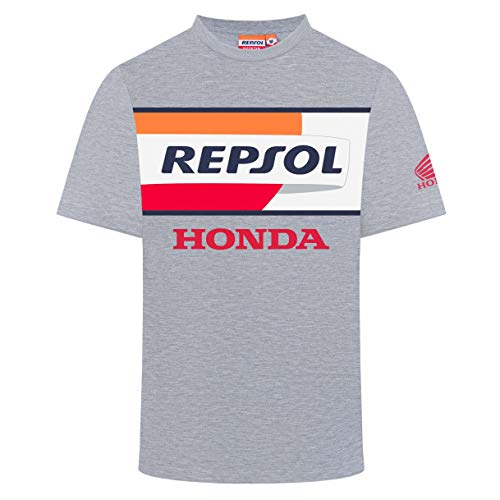 Camiseta de Manga Corta para Hombre con Logo de la Serie Honda Racing 2019 MotoGP, Color Gris, Tallas S a XXL, Gris, Mens (M) 102cm/40 Inch Chest