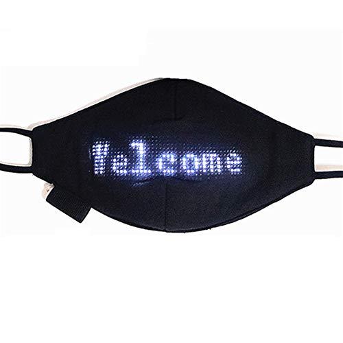 MXXQQ LED Programable Bluetooth Protector Facial, hasta La Luz De Protección De La Cara, Soporte Todos Los Idiomas...