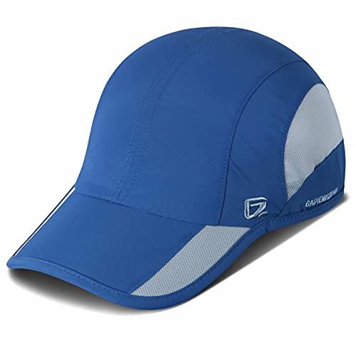 GADIEMKENSD Quick Dry Sports Hat Lightweight Breathable Soft Outdoor Running Cap Baseball Caps for Men (Blue)