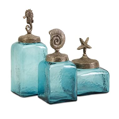 Imax Sea Life Canister, Set of 3