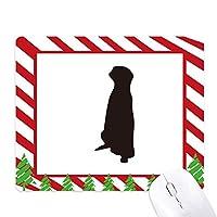 ブラック暗号かわいい動物の描写 ゴムクリスマスキャンディマウスパッド