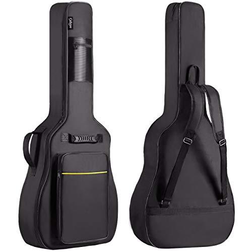 CAHAYA Funda de Guitarra Universal Acolchada Versión Actualizada de 8mm con 2 Bolsillos para Guitarra Acústica y Clásica con Tamaño Más Grandes para Guitarra de 39/40/41 Pulgadas