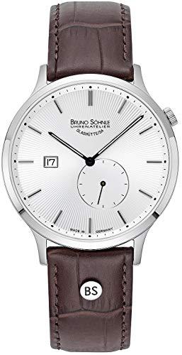 Bruno Söhnle Herren Analog Quarz Uhr mit Leder-Kalbsleder Armband 17-13212-241