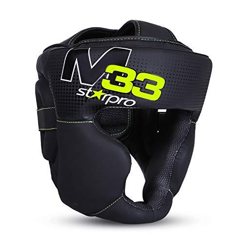 Starpro M33 Boxen Kopfschutz | Boxhelm mit Gesichtsschutz | Für Boxen Sport, Kickboxen, MMA, Krav MAGA und Muay Thai | Herren & Frauen | mit 180° Sicht und Gute Schweißaufnahme