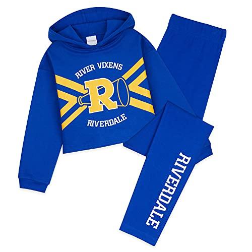 Riverdale Ropa Niña, Chandal Niña, Conjunto Sudadera Adolescente Y Leggings 9 - 15 Años (11-12 años, Azul)