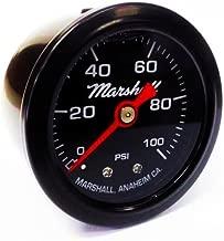Marshall Instruments LBB00100 Liquid Filled Fuel Pressure Gauge Black