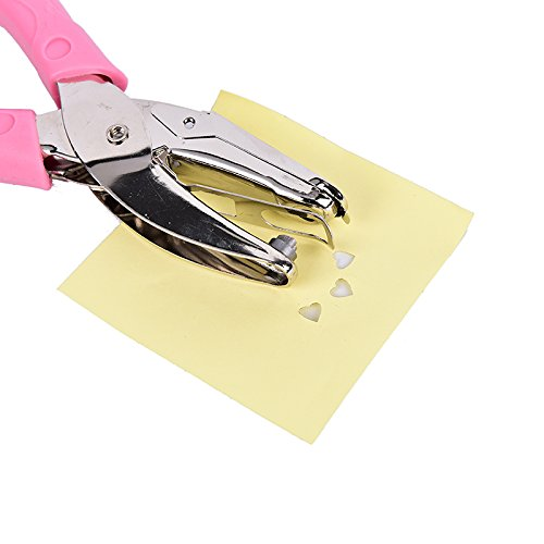 LONG7INES Ergonomic design Manual Paper Hole Paunches, Low Force Love Heart Craft Paper Paunch, Handle Wrapped with Plastic Photo #9