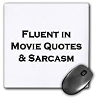 3dRose Mouse Pad Fluent in Movie Quotes and Sarcasm - 8 by 8-Inches (mp_222158_1) [並行輸入品]