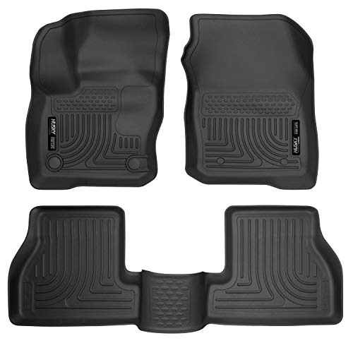 Husky Liners Fits 2016-18 Ford Focus Weatherbeater Front & 2nd Seat Floor Mats