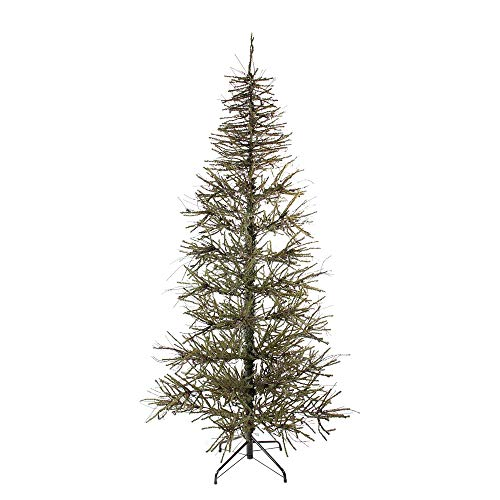 Northlight 6' Slim Warsaw Two-Tone Twig Artificial Christmas Tree - Unlit