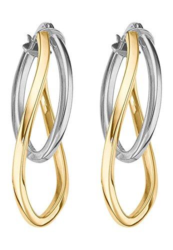 CHRIST Gold Damen-Creolen 375er Gelbgold One Size 85260855