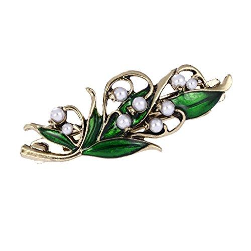 IPOTCH Vintage Perlen Haarspange Haarnadeln Haarstecker Haarklammer mit Strassstein Design für Hochzeit