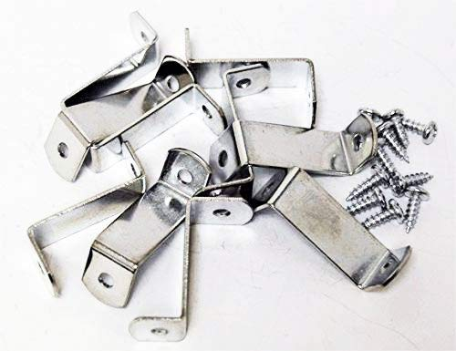 """888 Corp 1.25"""" Canvas Offset Clips Extra Heavy Duty with Screws 20 Pack"""