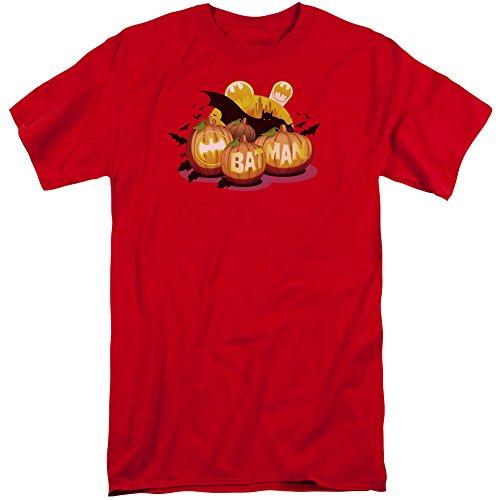 Batman Männer Schläger O Laternen Großes T-Shirt, XXX-Large, Red