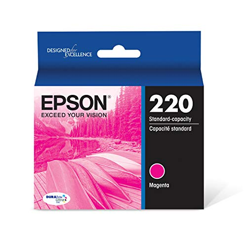 EPSON T220 DURABrite Ultra Ink Standard Capacity Cyan Cartridge (T220320-S) for select Epson Expression and WorkForce Printers