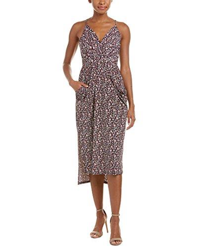 BCBGeneration Damen bedrucktes Midi-Kleid - Violett - Klein