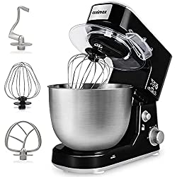 top 10 electric stand mixer Table mixer, Cusimax 800W dough mixer Electric tilt head mixer with 5 quart stainless steel bowl, …