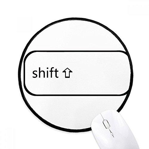 DIYthinker Toetsenbord Symbool Shift Ronde Antislip Mousepads Zwart Titched Edges Game Office Gift