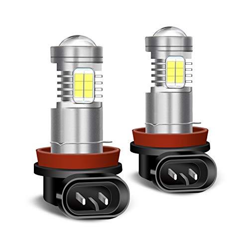 XELORD H11 H8 H9 LED Fendinebbia 6000K Luce Bianco Brillante Kit di Conversione Fendinebbia per Auto LED (2 pezzi)