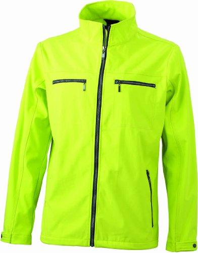 James & Nicholson Herren Jacke Softshelljacke Men's Tailored Softshell Jacket gelb (acid-yellow) XXX-Large