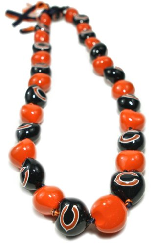 NFL Chicago Bears Go Nuts Kukui Nut Lei Necklace