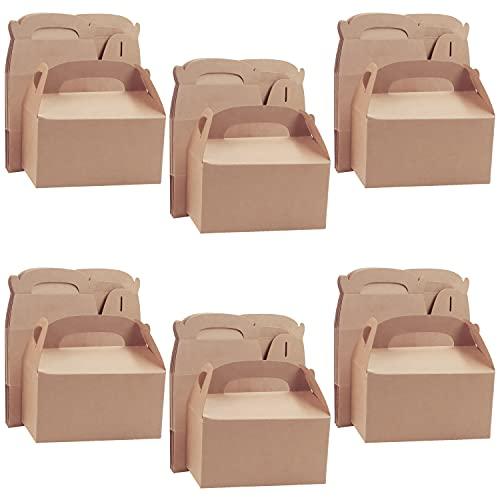 Belle Vous Cajas para Dulces Marrón para Fiestas (Pack de 24) 16 x 9,3 x 8,6 cm – Cajitas Regalo Lisas para Cumpleaños de Niños y Niñas, Comidas, Baby Shower y Bodas - Cajas para Chuches de Cartón