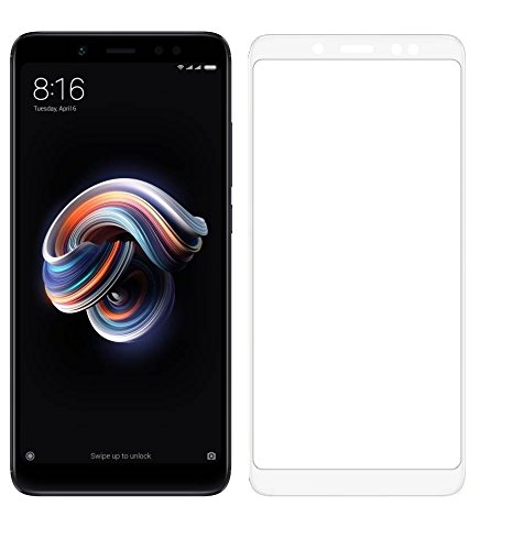 Mobizworld Top Quality tempered white glass/ screen protector for Xiaomi redmi note 5 pro + FREE Lunch Box