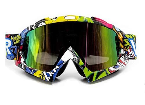 Vemar - Gafas para motocross, enduro, esquí, snowboard, antiviento, antipolvo y antiarañazos Lente Trasparente Modelo 4