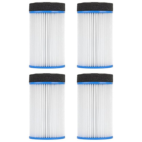 Clear Choice Pool Spa Filter 4.50 Dia x 7.80 in Cartridge Replacement for Spa-in-a-Box M-SPA Spa2Go Baleen AK-LGFPKWS, [4-Pack]