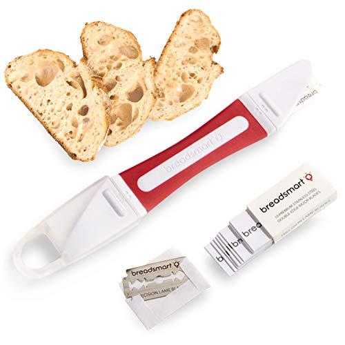 Breadsmart Lame - Bread Scoring Tool - Set of 10 Stainless Steel Blades - Bakers Dough Scorer - Best Baking Accessories