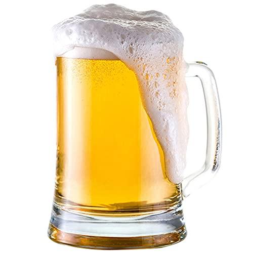 Taza de Cerveza de Vidrio Libre de Plomo Casa de Gran Capacidad Taza de Cerveza Creativa Engrosada de Gran tamaño con Barra Barra de Barra de Barra,660ml