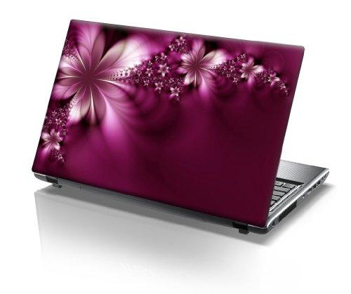 """15,6"""" Autocollants pour ordinateur portable fleurs violettes et roses"""