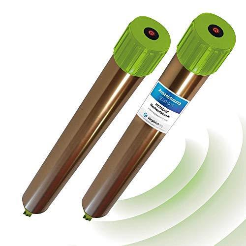 ISOTRONIC Maulwurfabwehr Vibrasonic mit ON/Off Schalter 2er Set NEU mit Vibrationsmotor batteriebetrieben Wühlmausfrei Wühlmausschreck Wühlmausvertreiber Wühltierfrei Maulwurfschreck (2)