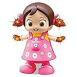Pink Kites Kid's Plastic Toys Walking Singing Dancing Reborn Doll Toys for Ba