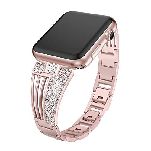 ROSEBEAR Band Replacement Watch Strap Pulsera de Acero Inoxidable para Apple Watch Iwatch 38Mm 42Mm