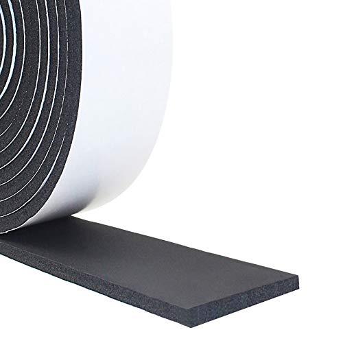 Foam Insulation Tape, Weather Stripping Door Seal Strip for Doors and Windows,Sliding Door,Sound Proof Soundproofing Door Seal,Weatherstrip,Air Conditioning Seal Strip (2In x 1/4In x 13Ft)