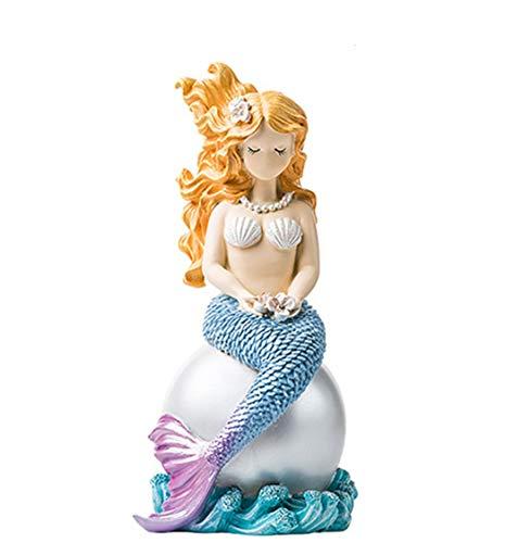 YuanBo Wu Perla Sirena decoración Fresca pequeña nórdica muñeca de la Historieta de Escritorio Adornos Vivo Creativo de la decoración del Sitio