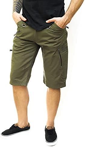 Walla Enterprises Slick Shorts 3/4 Cargo Shorts in Cotton Fabrics Size US 40 Brown