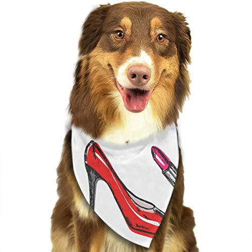 N/B Hoge hak Tas Patroon Aangepaste Hond Hoofddoek Heldere Gekleurde Sjaals Leuke Driehoek Bibs Accessoires Voor Huisdier Honden