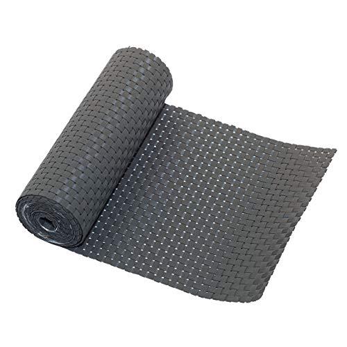 Videx Polyrattan-Sichtschutzstreifen für Doppelstabmatten, 19 x 200 cm, titangrau