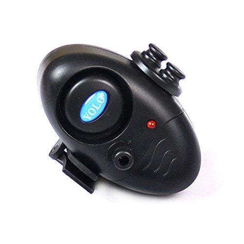 Sayla Empfindsame Angeln Bissanzeiger Elektronisch Sound Einstellen Swinger Vibration auf der Rute Angelsummer Ausrüstung von Fischer Fischerei Gerät Angelgerät Nacht Angelzubehör (Schwarz)