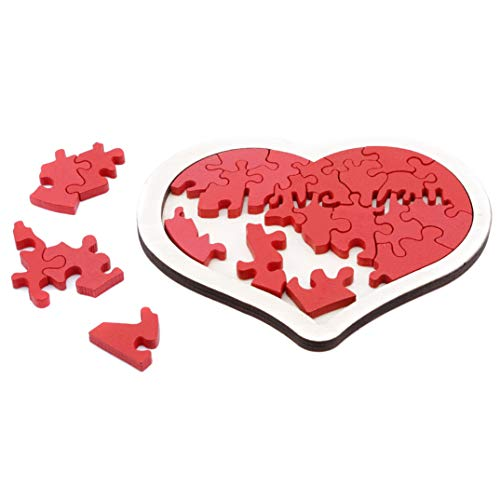 JOOFFF Love Puzzle Unregelmäßige Geometrie Hollow Holzpuzzle Kreatives Valentinstag Geschenk Holz Love Puzzle