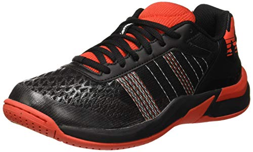 Kempa Attack Contender Junior EBBE & FLUT, Chaussures de Handball Mixte Enfant, Rouge Phare Noir), 35 EU