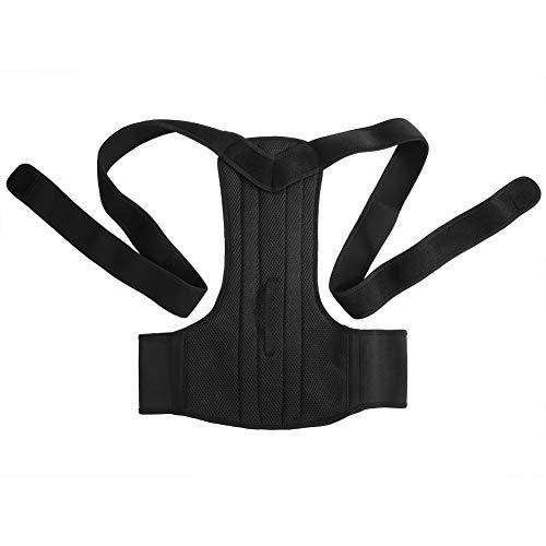 Yosoo Corrector de postura de neopreno, ajustable, resistente, cinturón de soporte lumbar, hombros y espalda, para hombre y mujer, negro