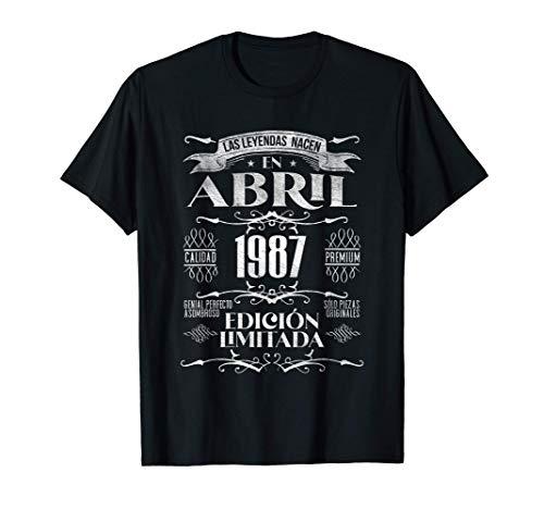 Las Leyendas nacen en Abril de 1987 - 34 años Cumpleaños Camiseta