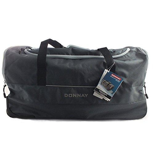 Donnay Reisetasche mit Zwei Rollen 80 Liter | Hochwertige und leichtgängige Rollen & Stabiler Aluminium Teleskopgriff - Sporttasche, Reisekoffer, Trolley Tasche, Seitentaschen