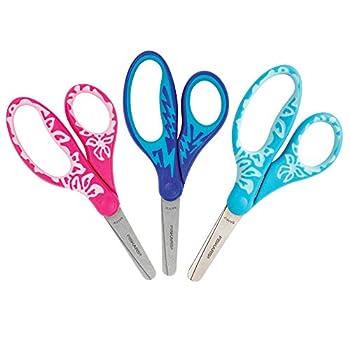Fiskars Kids Scissors Softgrip Blunt Tip 5 Inch 3 Pack