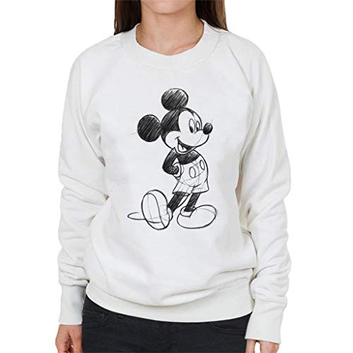 Disney Mickey Mouse Sketch Drawing Women's Sweatshirt