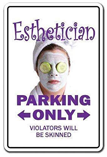 Esthetician Parking Skin Care Beauty Spa Massage Cosmetic Amerikanische Art Metallschilder Vintage Nostalgische Werbung Eiskaltes Getränk Plaque Bar Cafe Familie Dekorative Wandaufkleber Kunst Poster
